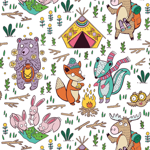 Ranita Santi animales de acampada