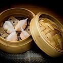 Gestoomde garnalenpasteitjes met koriander 香西餃 (4 stuks)