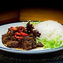 Beef Rendang met witte rijst / Beef Rendang with white rice /  馬來燜牛肉