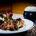 Garnalen in Maleisische Asam saus (zuur en pittig) met witte rijst / Malaysian Asam Shrimp with white rice / 馬來酸果咖哩蝦