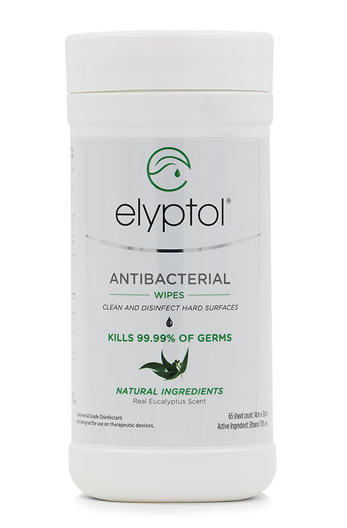 Eco Antibacterial Hard Surface Wipes (65pcs)