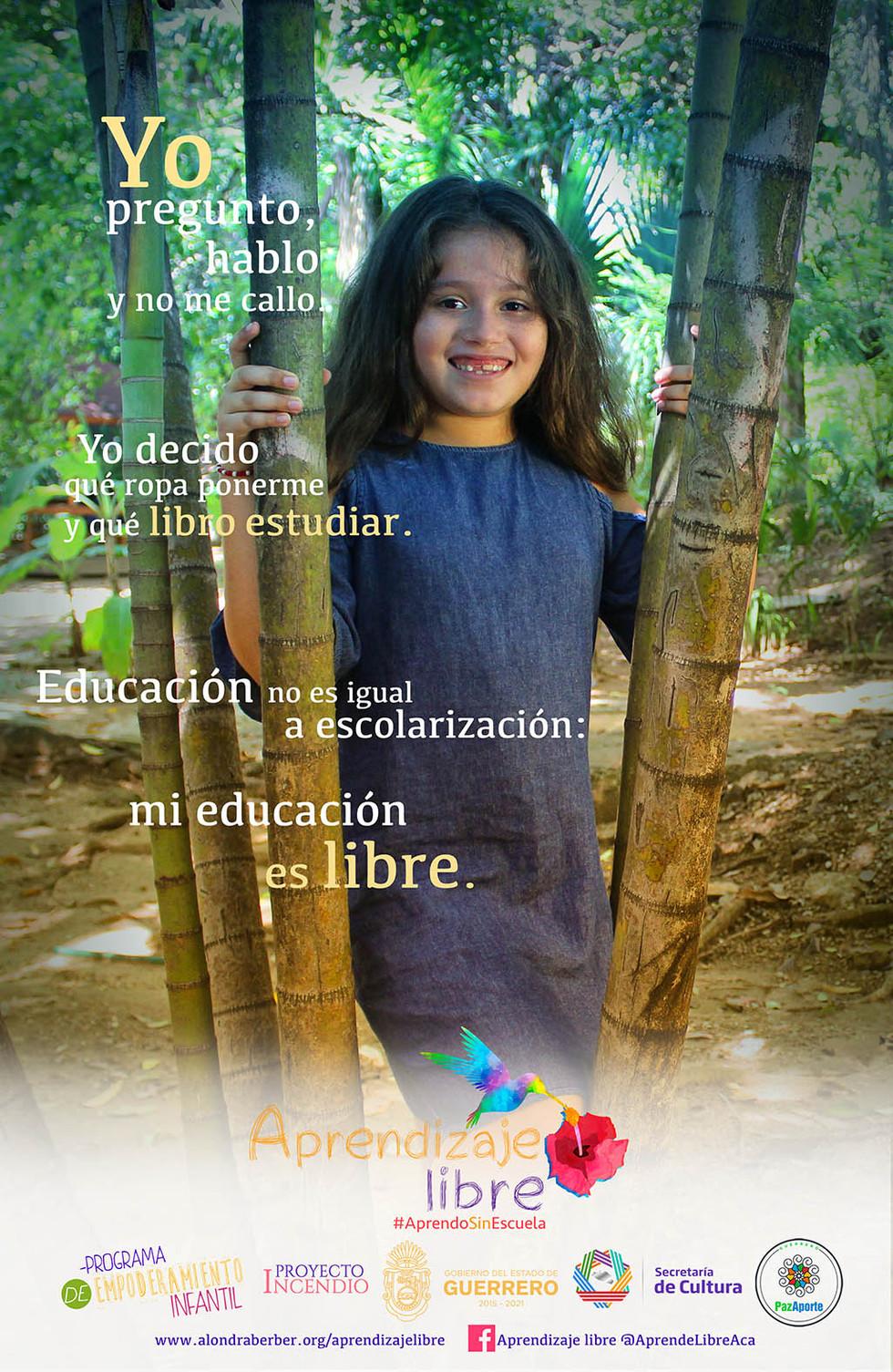 Surih Manjarrez, creadora de la campaña Aprendizaje Libre