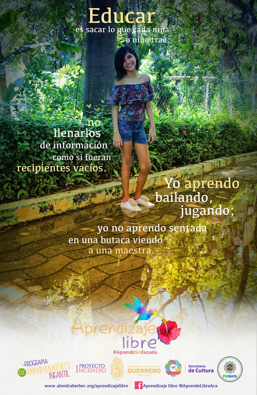 Zoe Martínez, creadora de la campaña Aprendizaje Libre