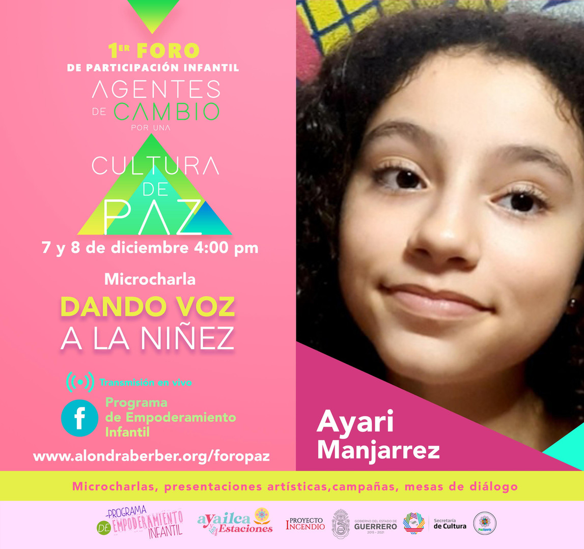 Ayari Manjarrez / Foro Paz