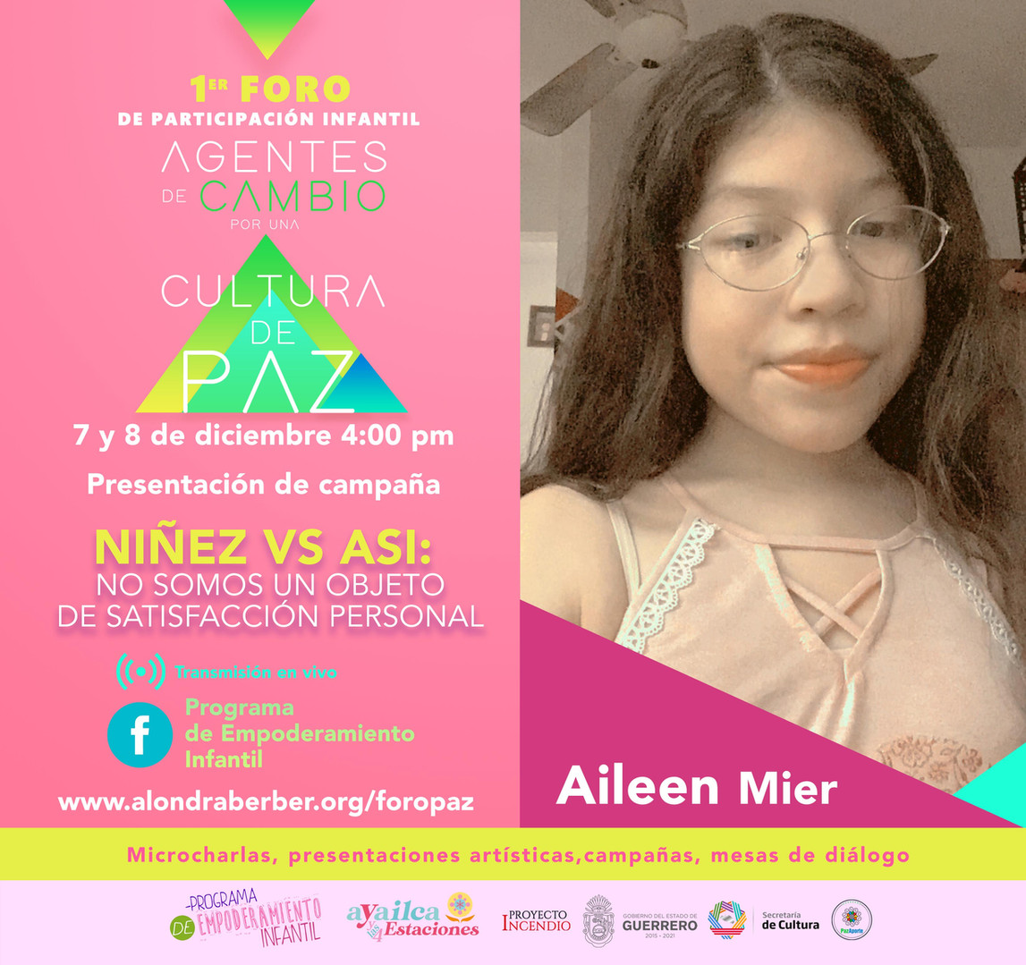 Aileen Mier / Foro Paz
