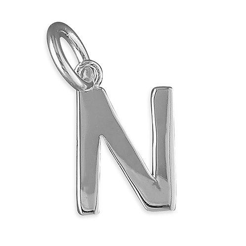 Plain Initial Pendant Letters N - Z