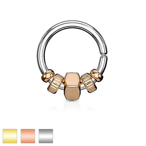 Beaded Twist Ring