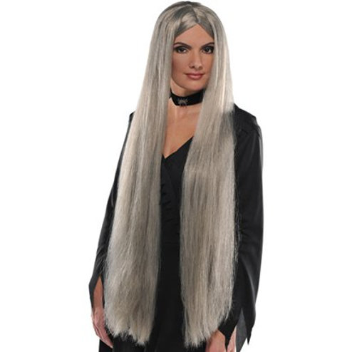 Grey Long Witch Wig