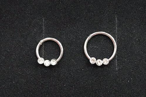 Jewelled Hinged Segment Ring