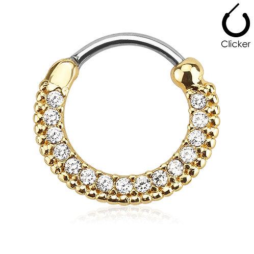 Gold Circular Septum Clicker