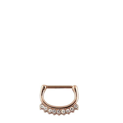 Rose Gold Gem Nipple Clicker