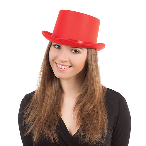 Red Satin Top Hat