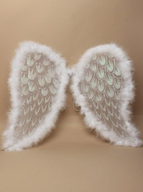 Angel Wings with Feathered Edge