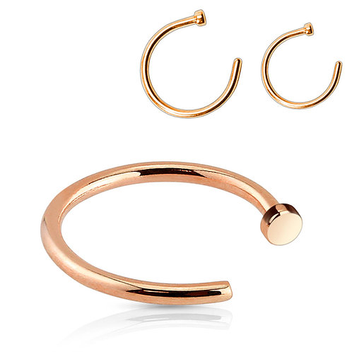 Rose Gold Open Nose Ring