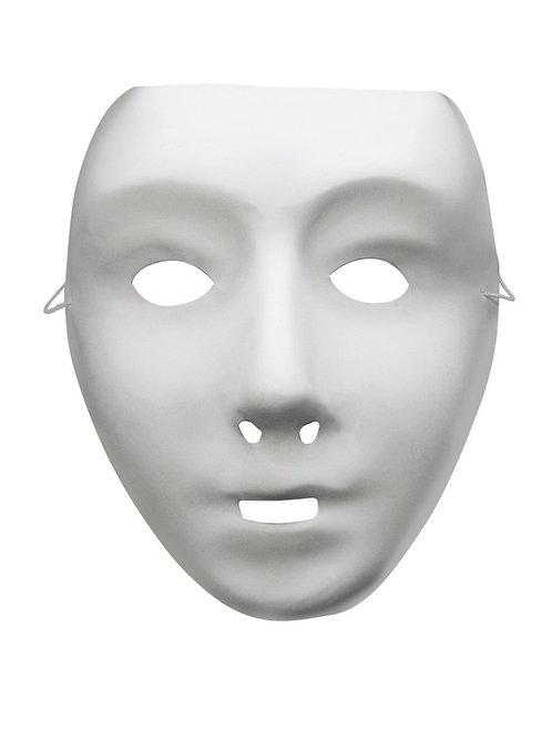 Plain White Face Mask