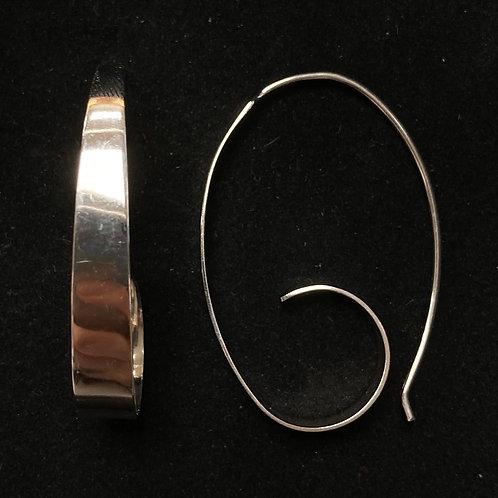 Rigid swirl drop earrings
