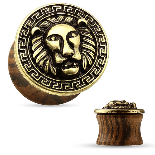 Wooden Lion Plug
