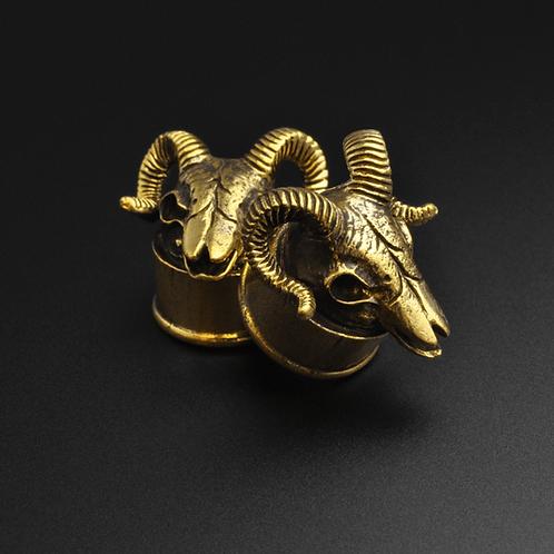 Brass Ram Skull Plugs