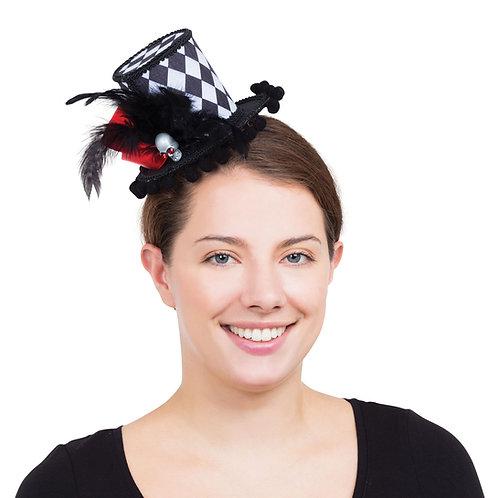 Harlequin Skull Top Hat