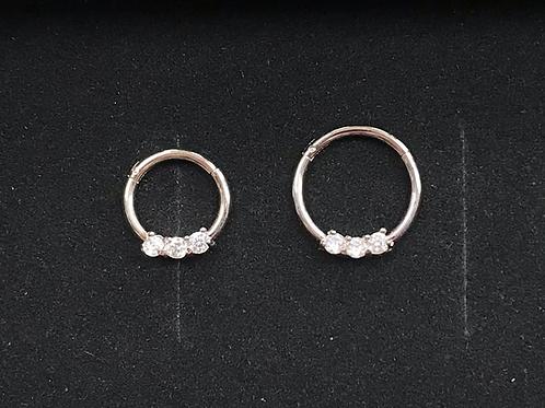 Clawset Jewelled Hinged Segment Ring