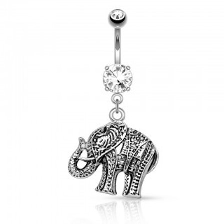 Elephant Dangle Belly Bar