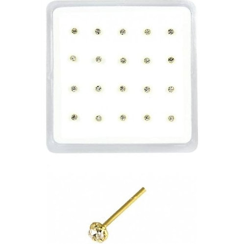 Gold Plated Jewelled Nose Stud