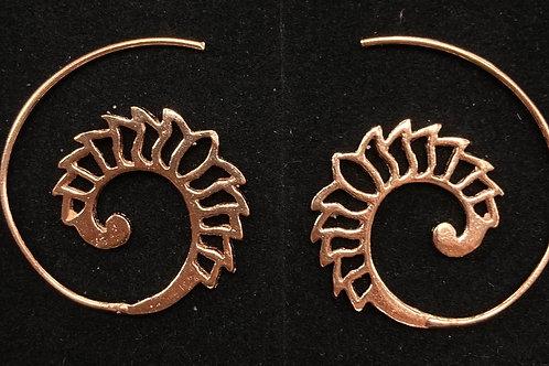 Rose gold spirals