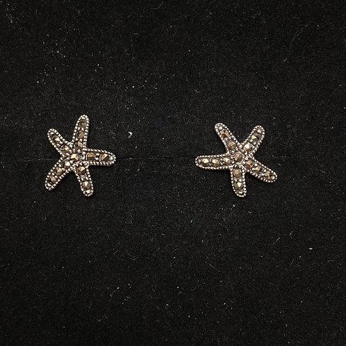 Marcasite starfish studs