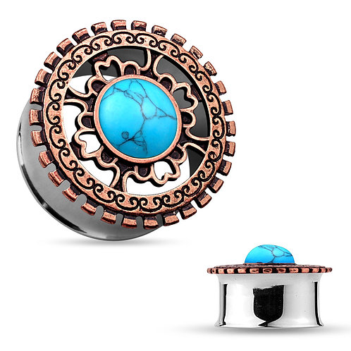 Turquoise Tribal Shield Tunnel