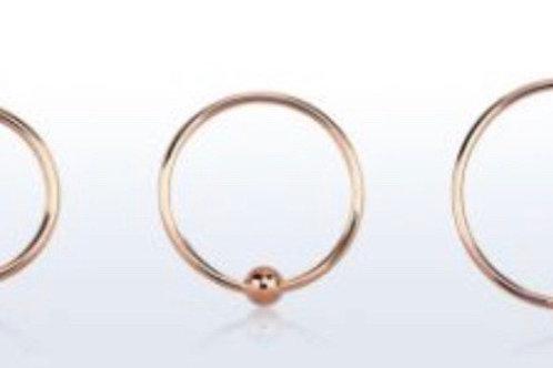Rose Gold Nose Rings