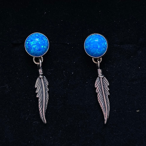 Opalite feather drops