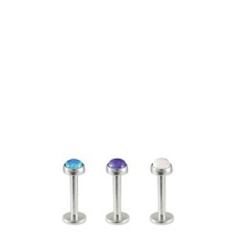Flat Opal Labret Stud