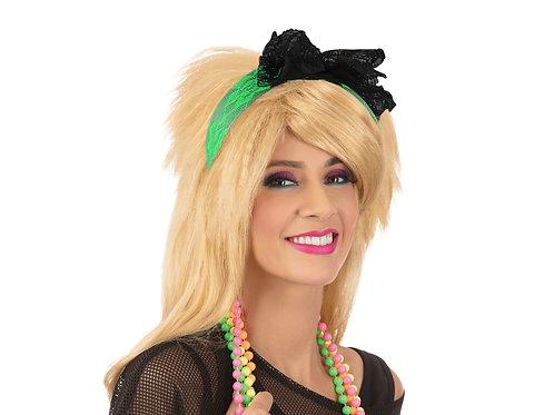 80's Style Neon Lace Headband