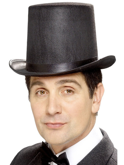 Black Stovepipe Top Hat
