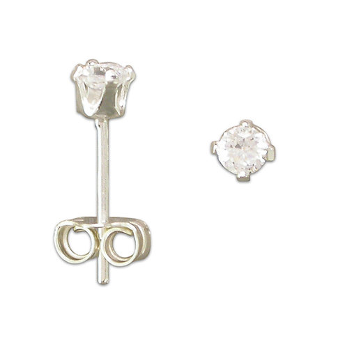3mm Cubic Ziconia Studs
