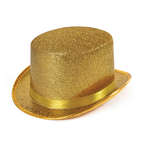 Gold or Silver Top Hat