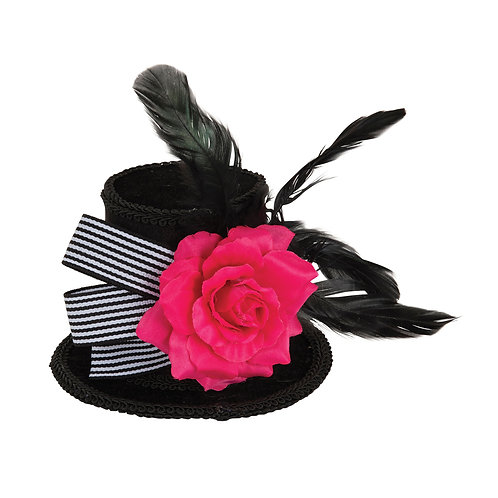 Mini Top Hat with Rose