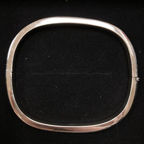 Square silver bangle