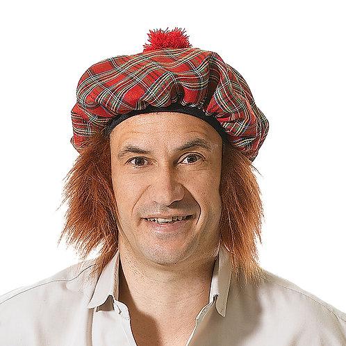 Tartan Hat with Hair