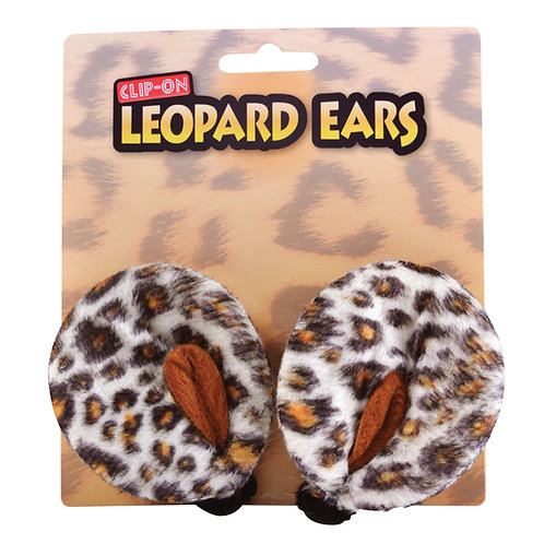 Leopard Clip on Ears