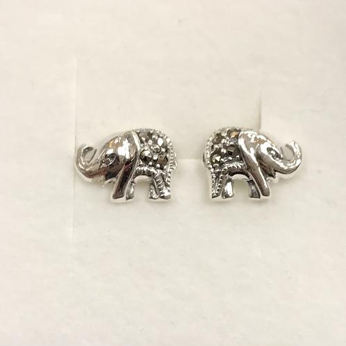 Marcasite Elephant Studs