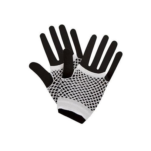 Short fish net gloves