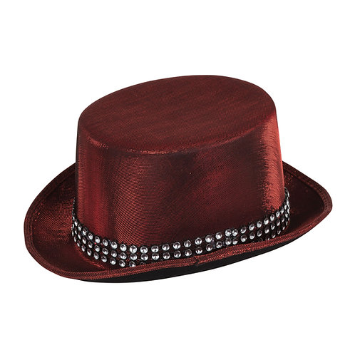 Metallic Top Hat with Diamante Band