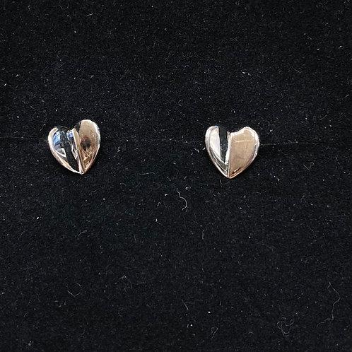3D heart studs