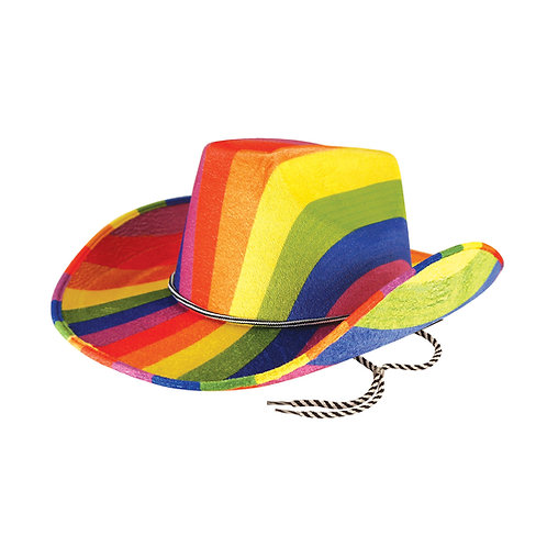 Rainbow Cowboy Hat