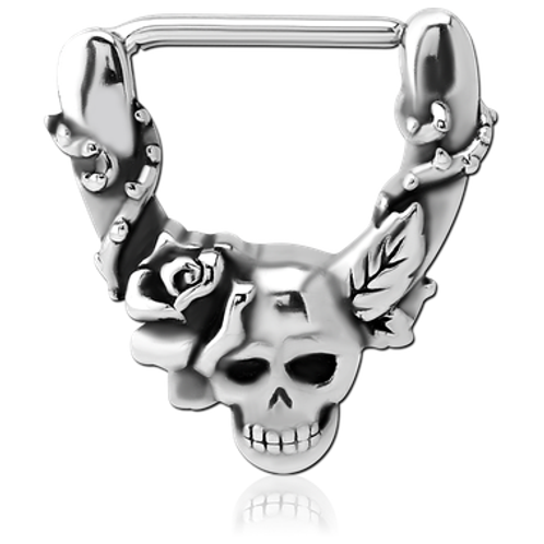 Skull and Roses Nipple Clicker