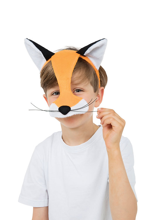 Half Face Fox Mask