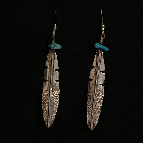 Sterling silver feather drops