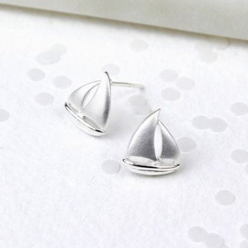 Textured Sailboat Studs