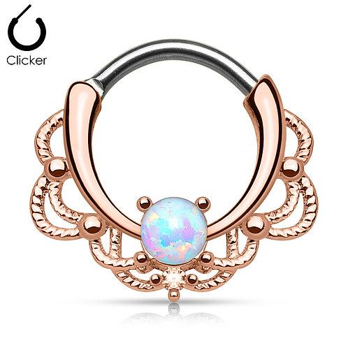 Rose Gold Opal Septum Clicker